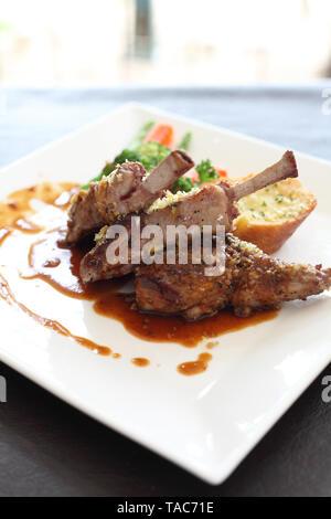 lamb steak - Stock Photo