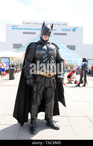 London, UK. 24th May, 2019. London, UK. 24th May 2019. Batman at the MCM London Comic Con at Excel in London Credit: Paul Brown/Alamy Live News - Stock Photo