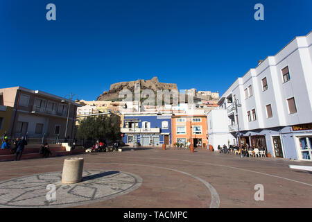 Castelsardo, Italy - January 01, 2019: beautiful view of Castelsardo town in Sardinia, Italy - Stock Photo