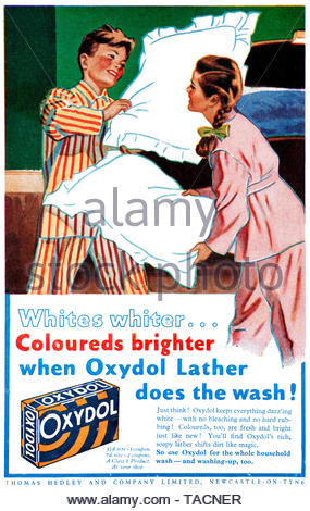 Vintage advertising for Oxydol Washing Powder from 1945 - Stock Photo