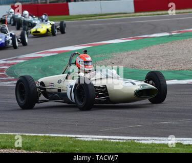 Peter Morton, Lightning Envoyette, FJHRA, HSCC, FJ Championship Rear Engined Grid, Formula Junior Historic Racing Association, Historic Sports Car Clu - Stock Photo