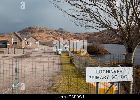 Lochinver primary school, Sutherland - Stock Photo