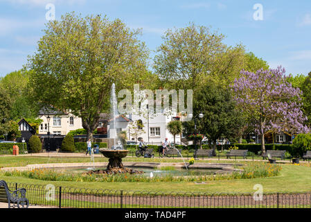 Prittlewell Square, an elegant garden, is a park situated in the Cliff town conservation area overlooking the Thames Estuary. Spring sunny day - Stock Photo