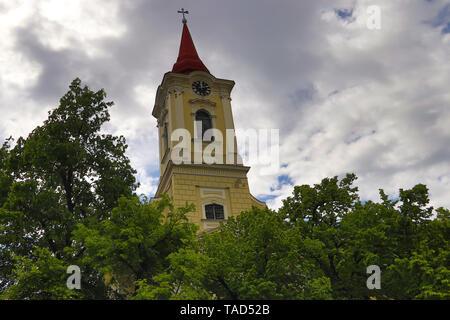 Orthodox Church of Saint Nicola (in serbian: Crkva Svetog Nikole), constructed in 1769 year, in Kikinda city in Serbia (Vojvodina region) - Stock Photo