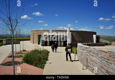 Exterior architecture of visitors center at ancient archaeological site at Gobekli Tepe in Sanliurfa, turkey - Stock Photo