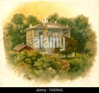 Wahnfried House by Richard Wagner in Bayreuth ,  (, ) - Stock Photo
