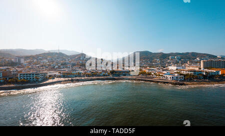 Mexico, Jalisco, Puerto Vallarta, El Centro, boardwalk in colonia El Malecon - Stock Photo