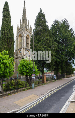 All Saints Church, High Street, Marlow - Stock Photo