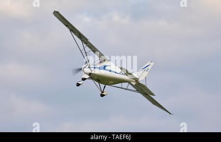 """Ikarus C42 """"G-ULSY"""" taking off from Old Warden Aerodrome on the 18th May 2019"""