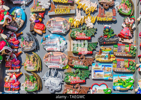 The local market in Krakow Old Town Main Square - Stock Photo