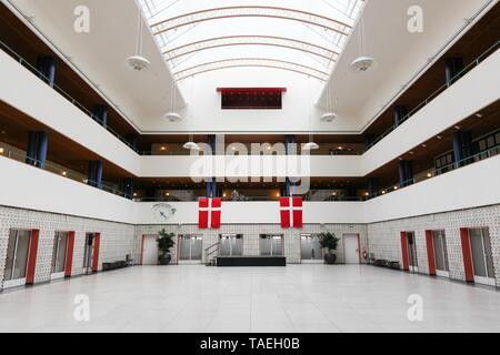 Odense, Denmark - August 16, 2018: Interior of the city hall of Odense in Denmark - Stock Photo