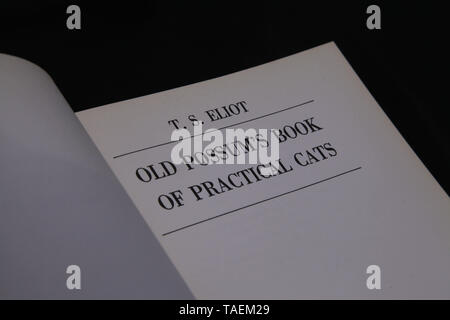 T.S. Eliot - Old Possum's Book of Practical Cats - Stock Photo