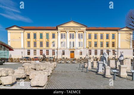The 1 Decembrie 1918 University headquarter building in Alba Iulia, Romania. - Stock Photo