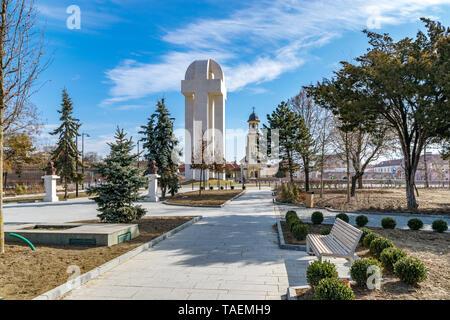 ALBA IULIA, ROMANIA - February 28, 2019: Monument of the Great Union in Alba Iulia, Romania. - Stock Photo