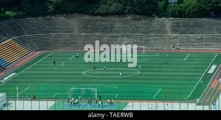 Soccer stadium seen from Shilla Hotel, Seoul, South Korea - Stock Photo