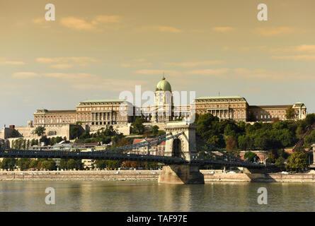 Budapest Royal palace, Hungary - Stock Photo
