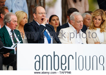 Monaco, Monaco. 24th May, 2019. MONTE CARLO, MONACO - MAY 24: Three times world champion Sir Jackie Stewart and Prince Albert II at the Amber Lounge fashion show during the Monaco GP at Monte Carlo on May 24, 2019 in Monte Carlo, Monaco. (Photo by Jerry Andre/Sutton Images) Credit: Motorsport Images/Alamy Live News Credit: Motorsport Images/Alamy Live News Credit: Motorsport Images/Alamy Live News Credit: Motorsport Images/Alamy Live News Credit: Motorsport Images/Alamy Live News - Stock Photo
