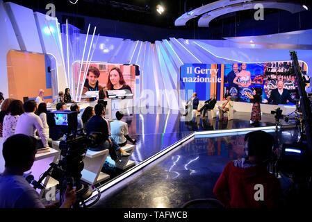 Milan, Italy  25th May, 2019  RAI 3 - TV-TALK Conducted by