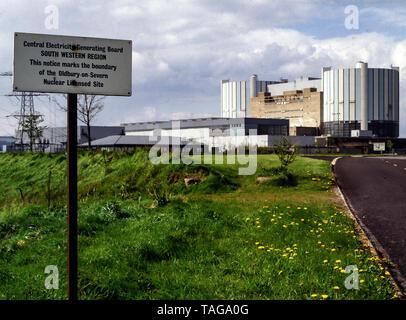 Oldbury-on-Severn Nuclear Power Station 1983 - Stock Photo