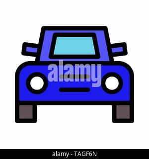 front car icon vector logo symbol or illustration. - Stock Photo