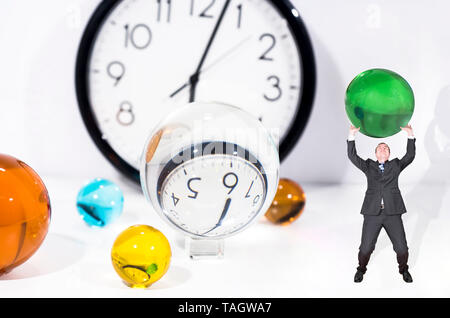 Time abstraction in business. Conceptual abstract photo. - Stock Photo