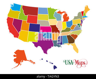 The United States of America (USA), commonly known as the United States (U.S.) or America, is a federal republic composed of 50 states. - Stock Photo