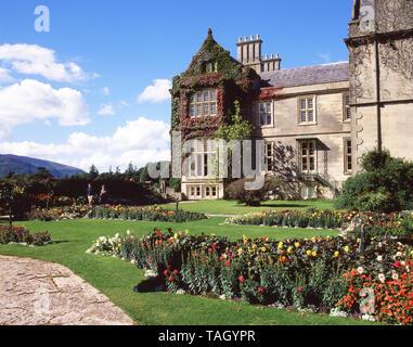 Gardens of Muckross House, Killarney National Park, County Kerry, Munster Province, Republic of Ireland - Stock Photo