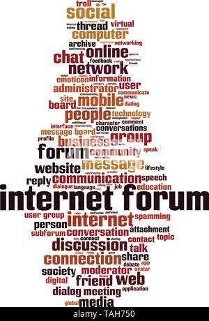 Internet forum word cloud concept  Collage made of words about