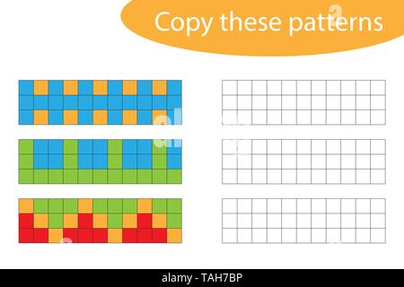 drawing games on paper Copy These Patterns Pixel Art Drawing Skills Training