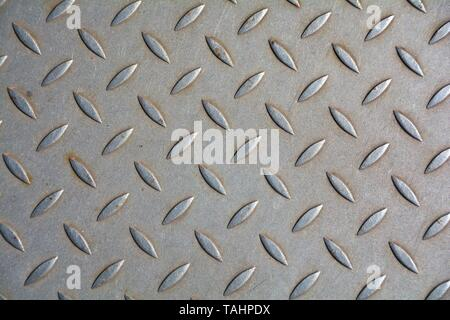 Checker plate made of metal - Stock Photo