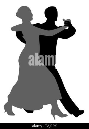 Couple salsa tango dancers - Stock Photo
