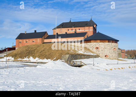 The ancient fortress of Hameenlinna on a sunny March day. Finland - Stock Photo