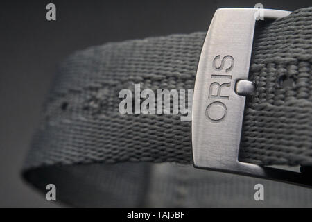 high resolution images of an Oris Sixty Five Heritage Diver, a swiss automatic watch - Stock Photo