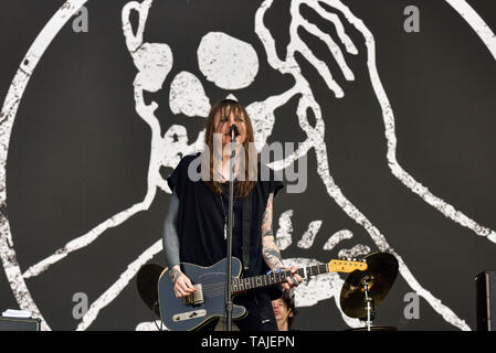 Napa, California, May 25, 2019, Against Me on stage at the 2019 Bottle Rock Festival, Day 2 BottleRock Credit: Ken Howard/Alamy - Stock Photo