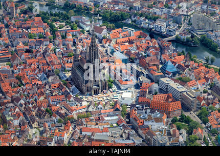 Ulm, Germany. The Ulm Minster Ulmer Munster, a Lutheran temple and tallest church in the world