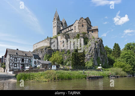 the catholic church st lubentius in dietkirchen limburg an der lahn hesse germany - Stock Photo