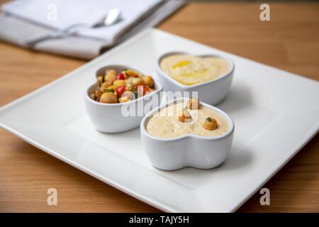 Houmous snack - Stock Photo