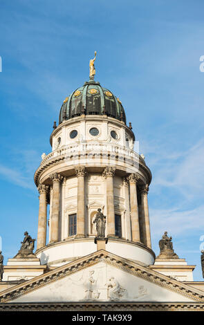 Dome of the French Cathedral on the Gendarmenmarkt  in Berlin, Germany - Stock Photo