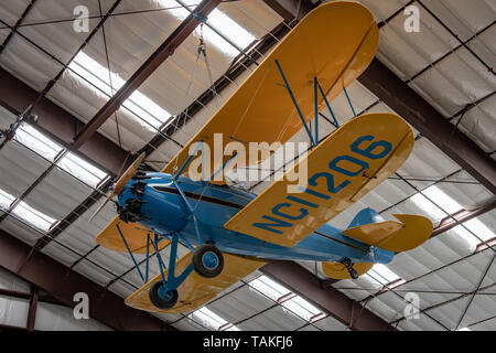 WACO biwing at Pima Air & Space Museum in Tucson, Arizona, USA - Stock Photo
