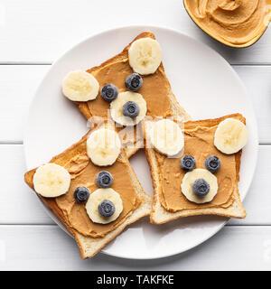 Funny breakfast concept - Stock Photo