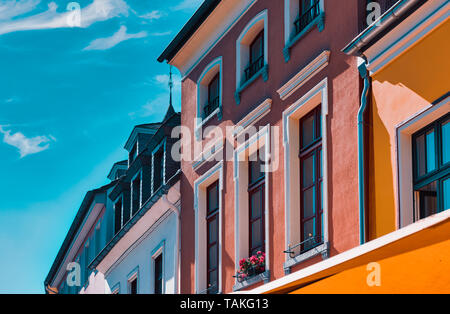 Colorful fascade of old house in Xanten - Stock Photo
