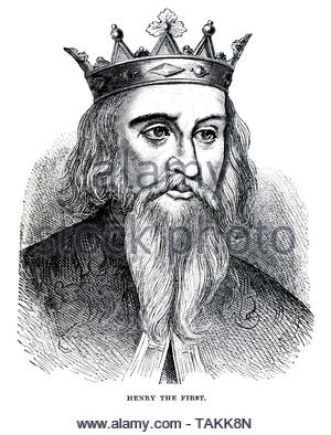 Henry I, 1068 – 1135, was King of England from 1100 to his death in 1135 - Stock Photo