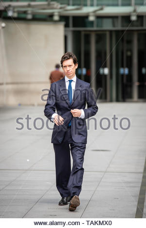 Prospective Prime Minister Rory Stewart at the BBC. London, Great Britain, 26 May 2019  Credit: David Nash/DNImages - Stock Photo