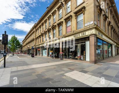 New pedestrians precinct in Sauchiehall Street Glasgow Scotland UK - Stock Photo