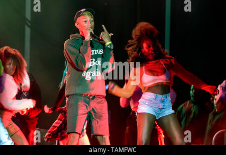 Napa, California, May 25, 2019,  Pharell on stage at the 2019 Bottle Rock Festival, Day 2 BottleRock Credit: Ken Howard/Alamy Credit: Ken Howard/Alamy Live News - Stock Photo