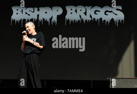 Napa, USA. 26th May, 2019. Napa, California, May 26, 2019, Bishop Briggs on stage at the 2019 Bottle Rock Festival, Day3 BottleRock Credit: Ken Howard/Alamy Live News - Stock Photo
