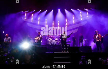 Napa, USA. 26th May, 2019. Napa, California, May 26, 2019, Mumford and Sons on stage at the 2019 Bottle Rock Festival, Day3 BottleRock Credit: Ken Howard/Alamy Live News - Stock Photo