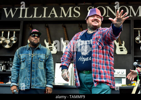 Napa, USA. 26th May, 2019. Napa, California, May 26, 2019, Chef Matty Matheson and Big Boi on the Williams & Sonoma cullinary stage at the 2019 Bottle Rock Festival, Day 3 BottleRock Credit: Ken Howard/Alamy Live News - Stock Photo