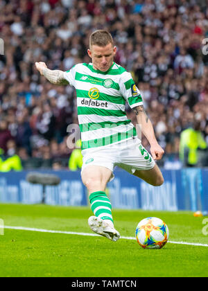 Hampden Park, Glasgow, UK. 25th May, 2019. Scottish Football Cup Final, Heart of Midlothian versus Celtic; Jonny Hayes of Celtic Credit: Action Plus Sports/Alamy Live News - Stock Photo