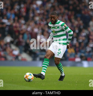 Hampden Park, Glasgow, UK. 25th May, 2019. Scottish Football Cup Final, Heart of Midlothian versus Celtic; Olivier Ntcham of Celtic Credit: Action Plus Sports/Alamy Live News - Stock Photo